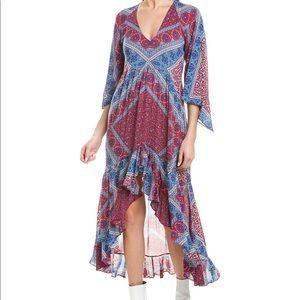 BA&SH Usso Paisley High/Low Dress